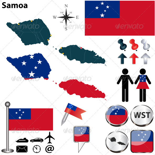GraphicRiver Map of Samoa 6118823