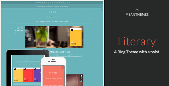 Literary: A WordPress Blog Theme with a twist