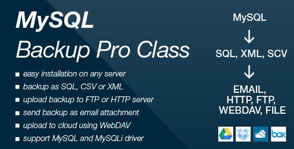 CodeCanyon MySQL Backup Pro Class 6119306