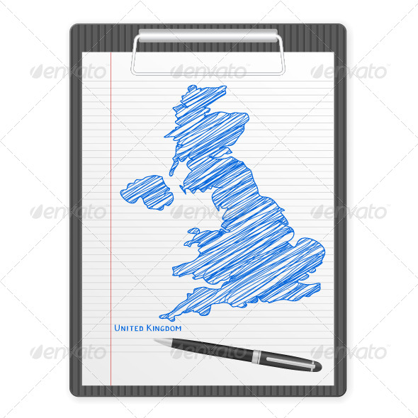 GraphicRiver Clipboard UK Map 6119502