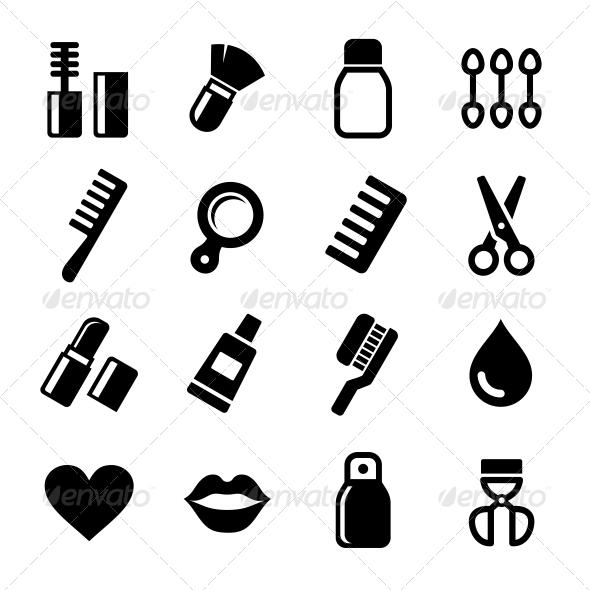 GraphicRiver Cosmetics Perfume Icons Set 6119510