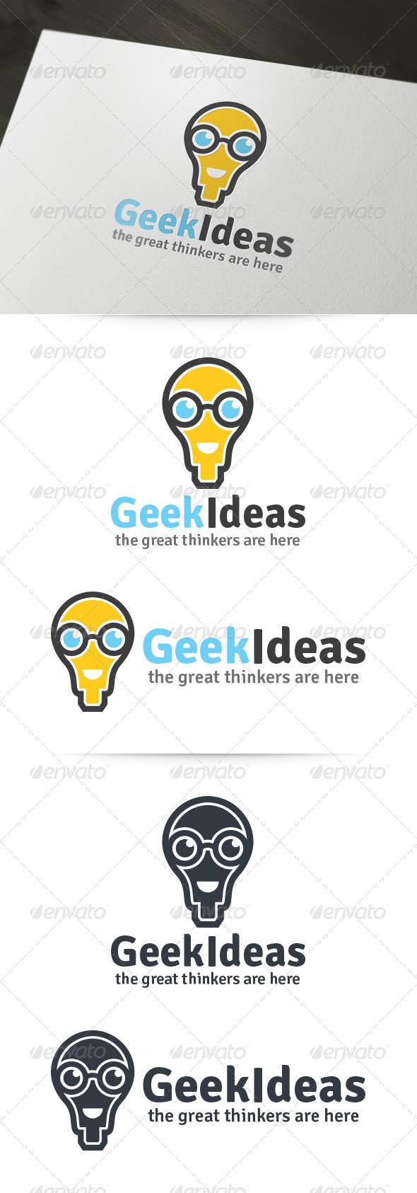 GraphicRiver Geek Ideas Logo 6119518