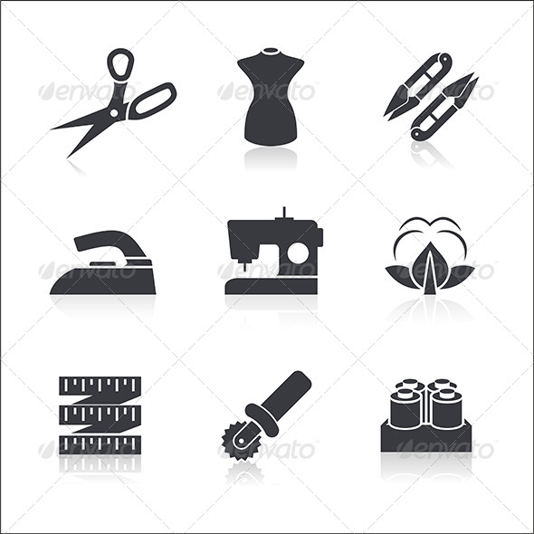 GraphicRiver Sewing Icons Set 6119676