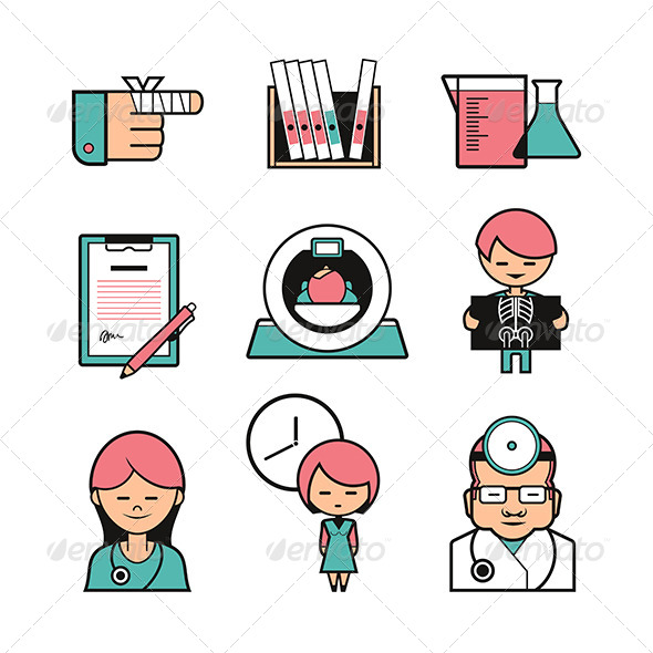 GraphicRiver Medical Color Icons 6119703