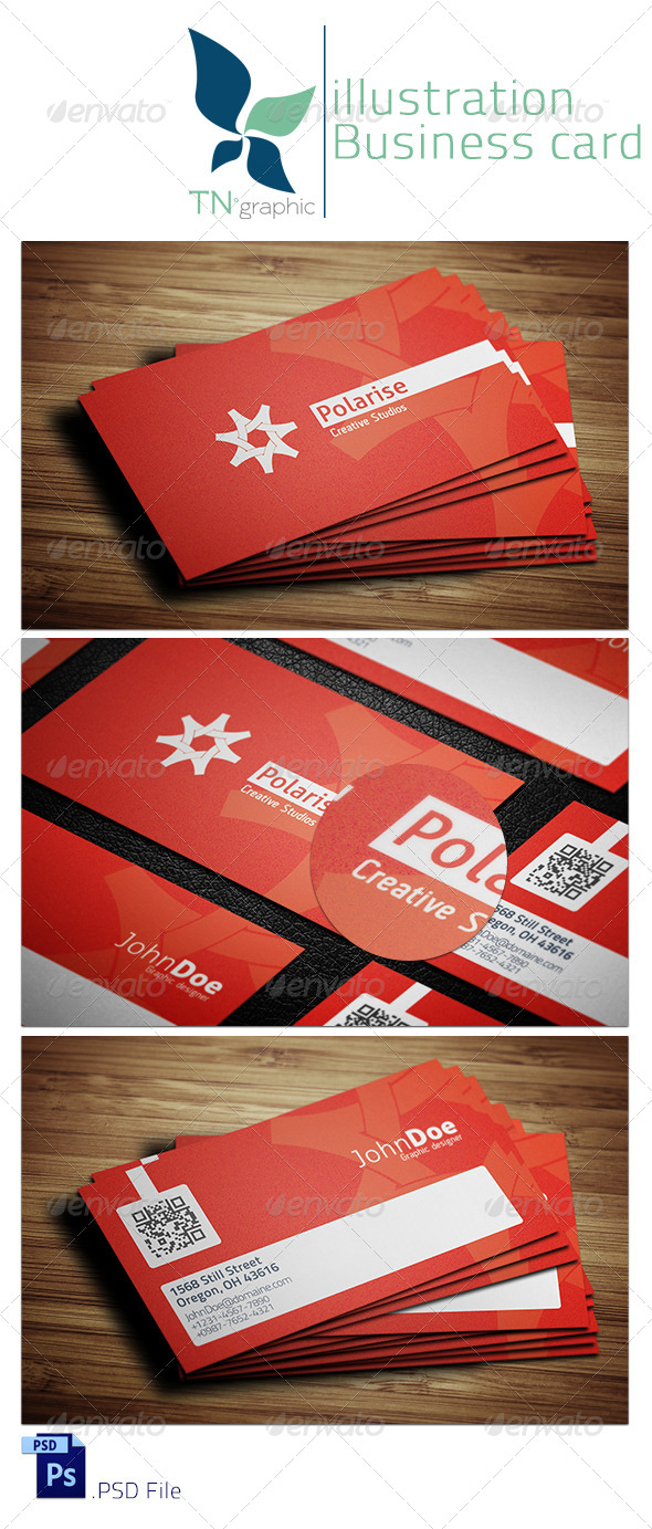 GraphicRiver Polarise Business Card 6018362
