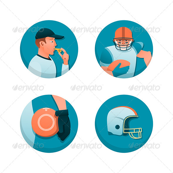 GraphicRiver American Football 6119803