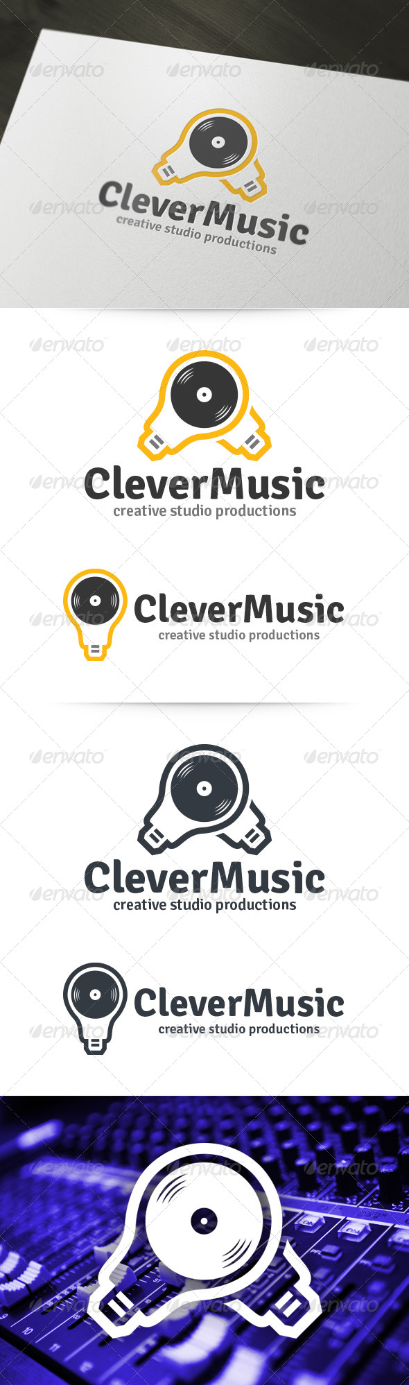 GraphicRiver Clever Music Logo 6119810