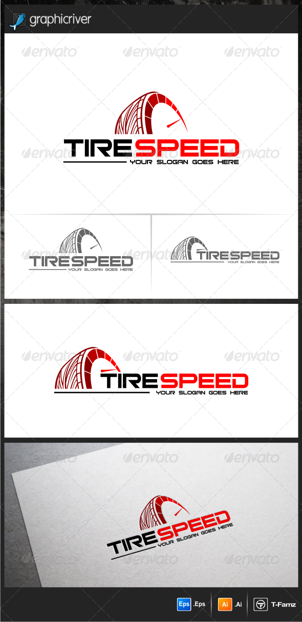 Tire Speed Logo Templates - Objects Logo Templates