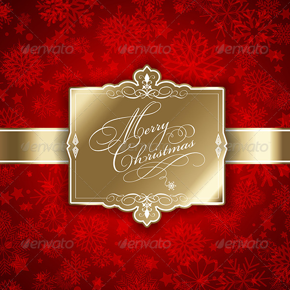 GraphicRiver Christmas Label Background 6120138