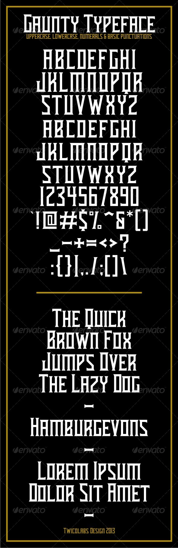 GraphicRiver Gaunty Typeface 6120268