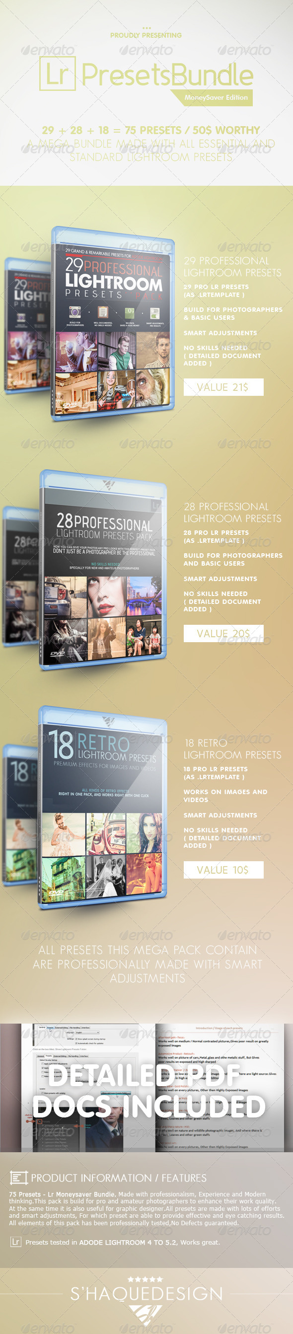 75 Pro Presets - Mega Lr Presets Bundle - Lightroom Presets Add-ons
