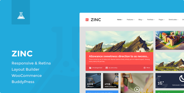 Zinc - Multi-purpose WordPress Theme
