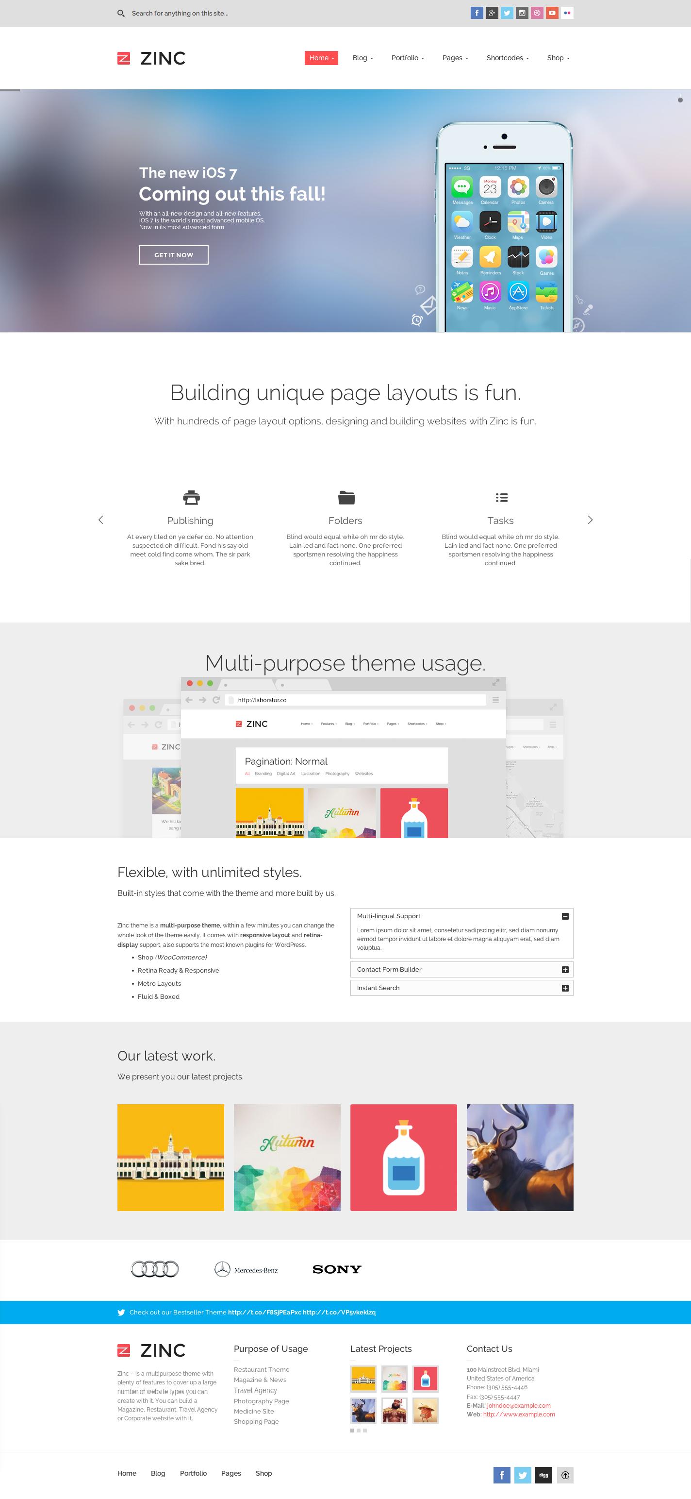 Zinc - Multi-purpose WordPress Theme