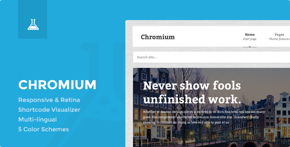 Chromium - Responsive Business and Blog Theme - Portfolio Creative