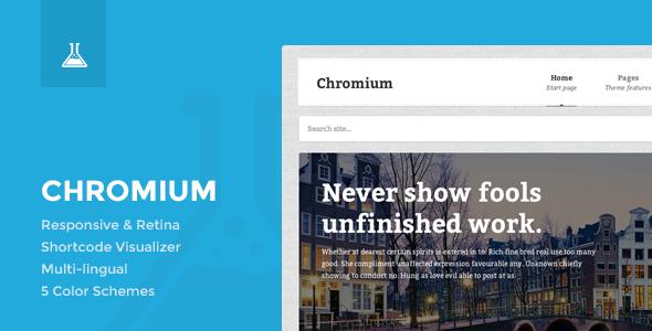 Chromium - Responsive Business and Blog Theme - Portfolio Creative