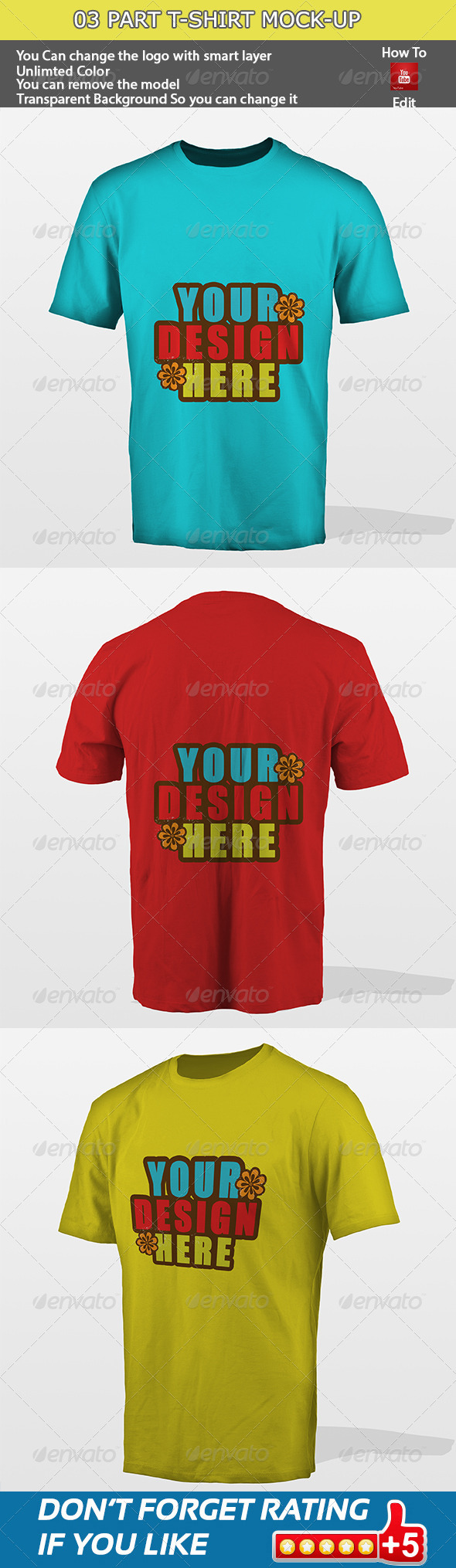 GraphicRiver 03 Part T-shirt Mock-up 5717792