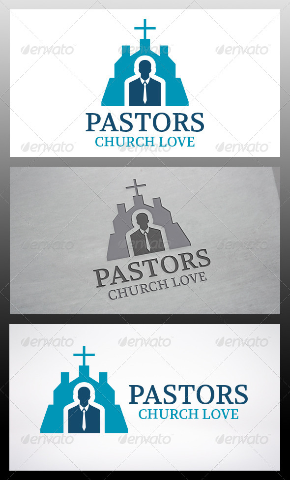 GraphicRiver Pastor Church Logo Template 6120365
