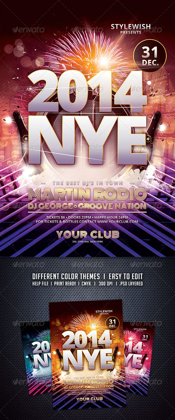 GraphicRiver New Years Eve Flyer 6120367