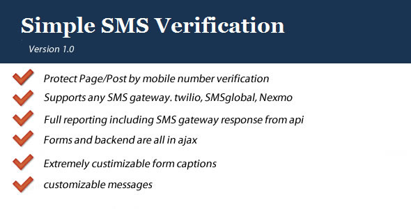 CodeCanyon Simple SMS Verification 6037963