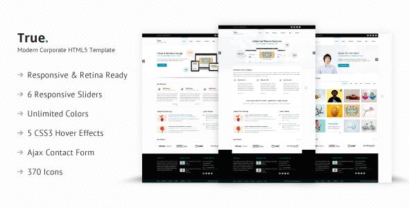 ThemeForest True Retina Ready Multi Purpose HTML5 Template 6120406