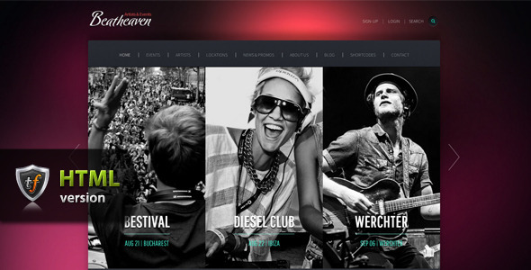 Beatheaven - Music HTML Theme - Music and Bands Entertainment