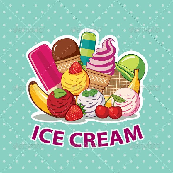 GraphicRiver Ice Cream Set 6120445