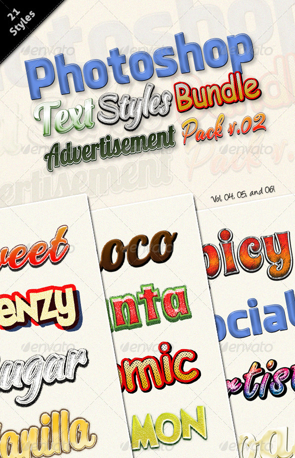 GraphicRiver Photoshop Text Styles Bundle Advertisement V.02 6120907