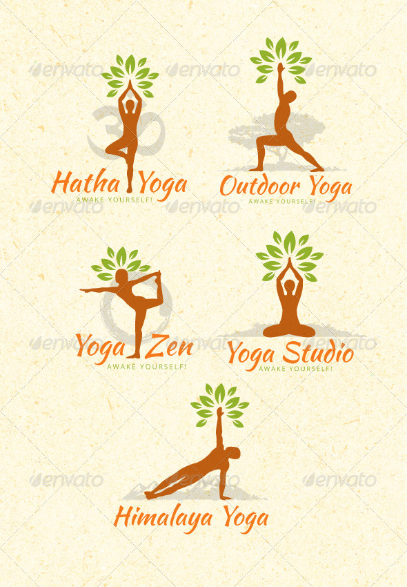 Organic Yoga Vector Design Elements - Vectors