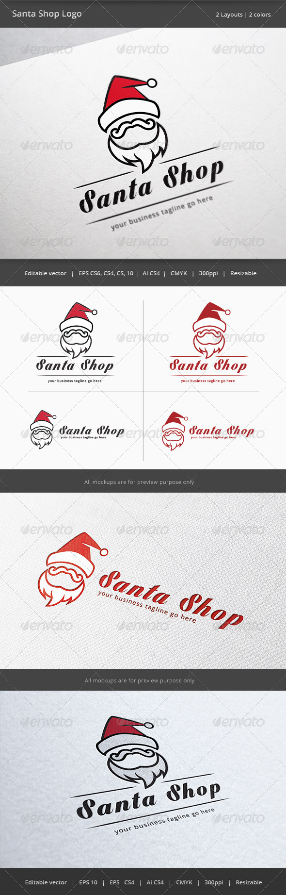 GraphicRiver Santa Claus Shop Logo 6120982