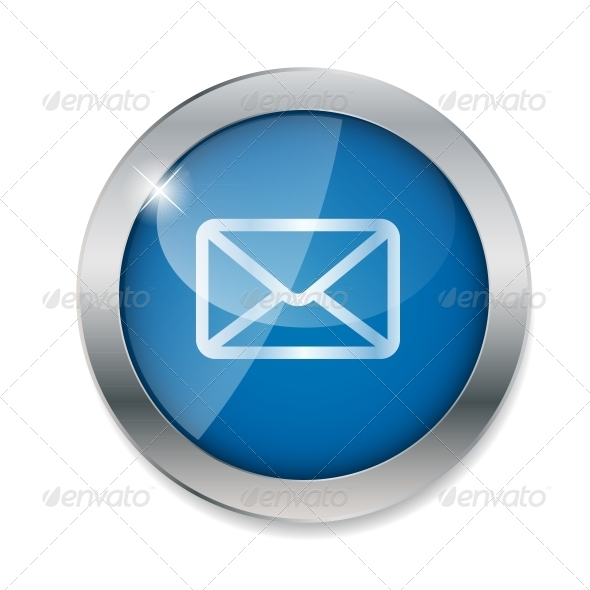 Mail Button Vector Illustration