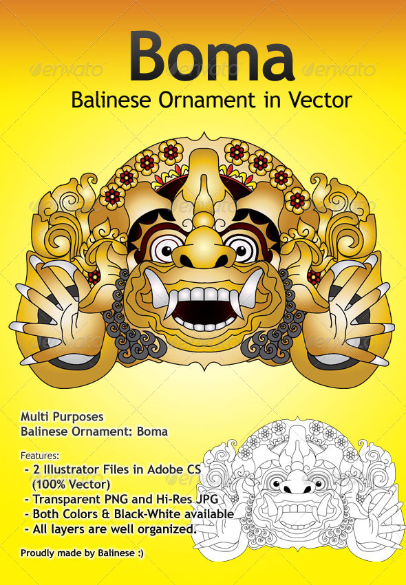 GraphicRiver Boma Vector Balinese Ornament 6121269