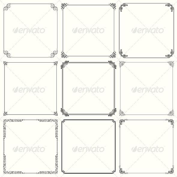 GraphicRiver Decorative Frames 6121282