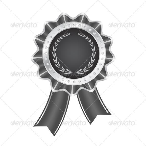 GraphicRiver Gray Award Ribbon 6121829