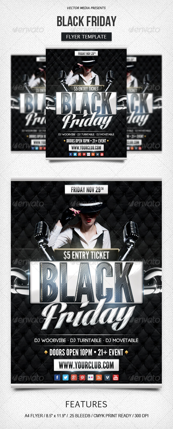 GraphicRiver Black Friday Flyer 6121134