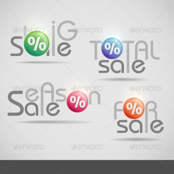 GraphicRiver Colorful Vector Set of Sale Icons 6122070
