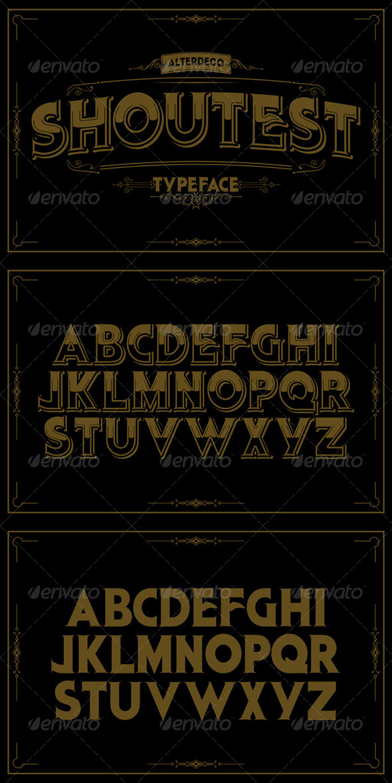 GraphicRiver Shoutest Typeface 6122091