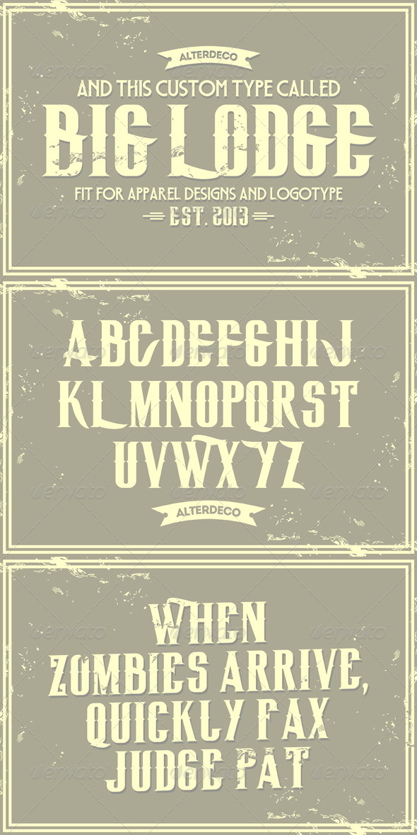 GraphicRiver BigLodge Typeface 6122097