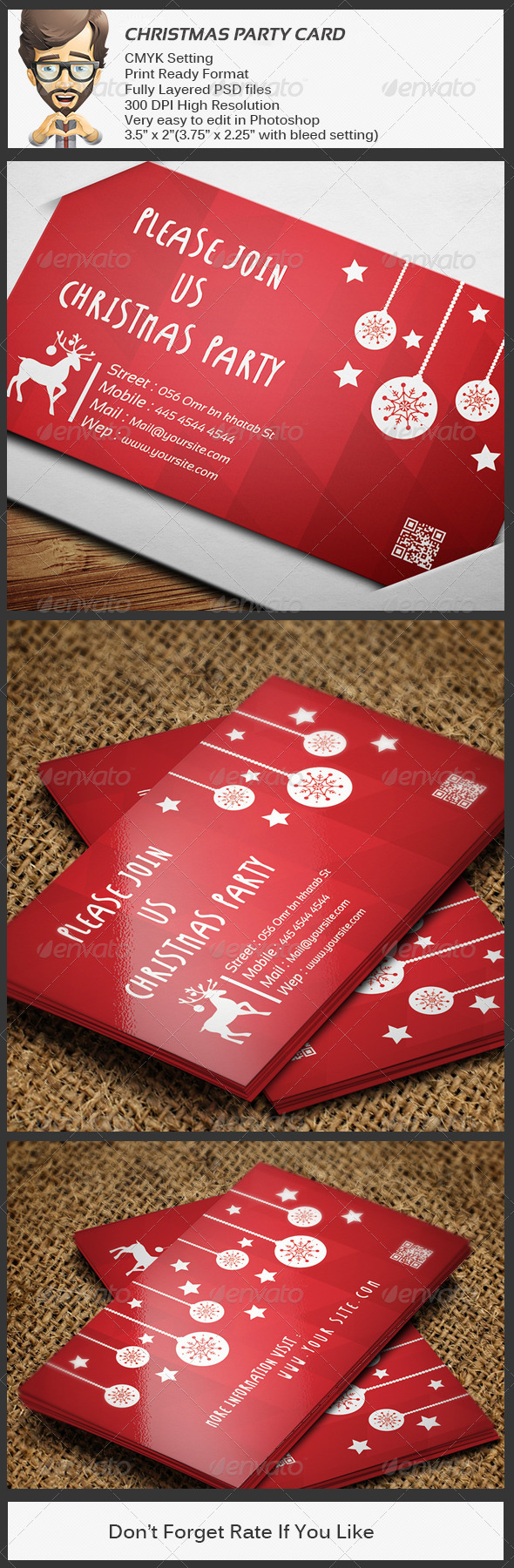 GraphicRiver Christmas Party Card 6122385