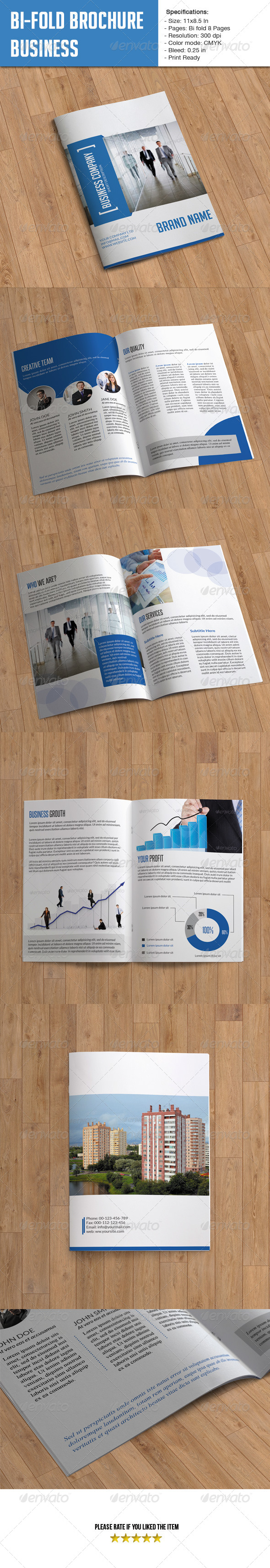 GraphicRiver Bifold Brochure for Business- 8 Pages 6123212