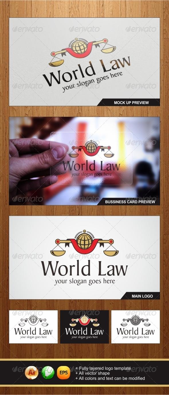 GraphicRiver World Law Logo 6123284