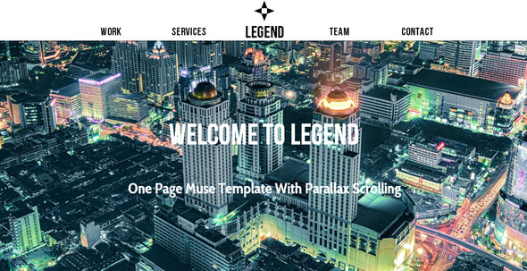 ThemeForest Legend Multipurpose Muse Template 6103368