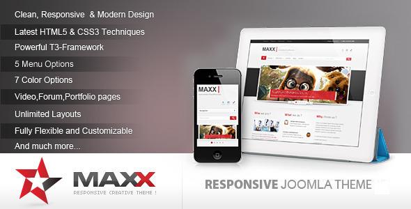 ThemeForest Maxx Responsive Creative JoomlaTemplate 6088042