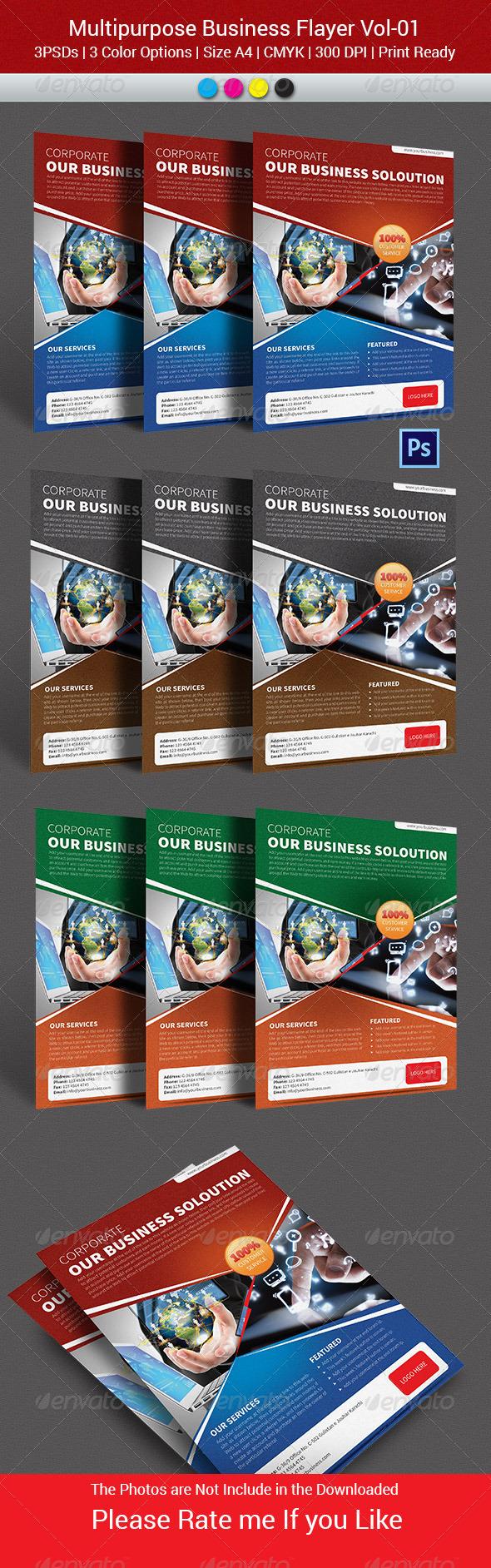 GraphicRiver Multipurpose Business Flyer Vol-01 6123326