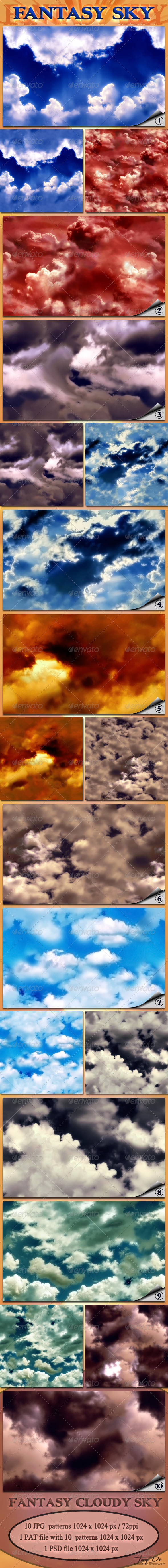 Fantasy Cloudy Sky - Nature Textures / Fills / Patterns