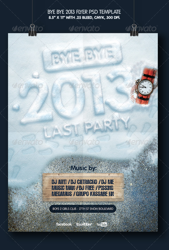 GraphicRiver Bye Bye 2013 Party 6123252