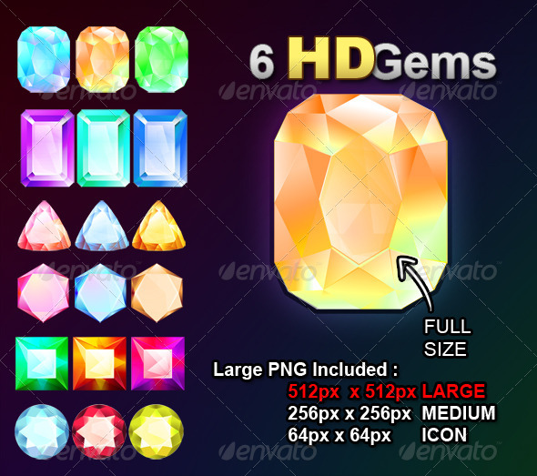 GraphicRiver 6 HD Gems 6123764