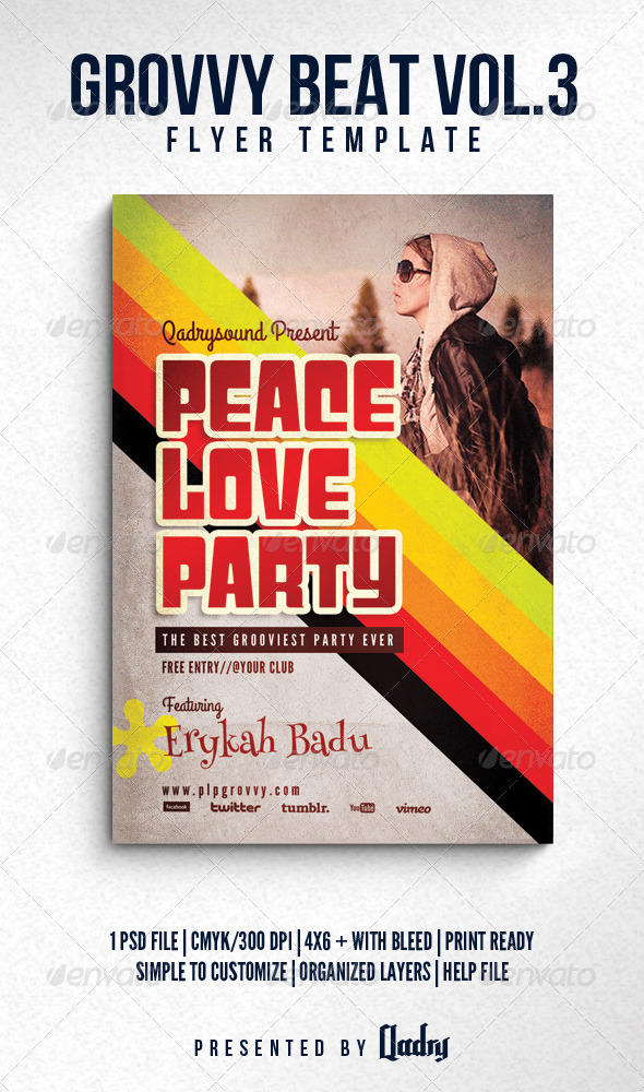 GraphicRiver Groovy Beat Vol 3 Flyer Template 6124015