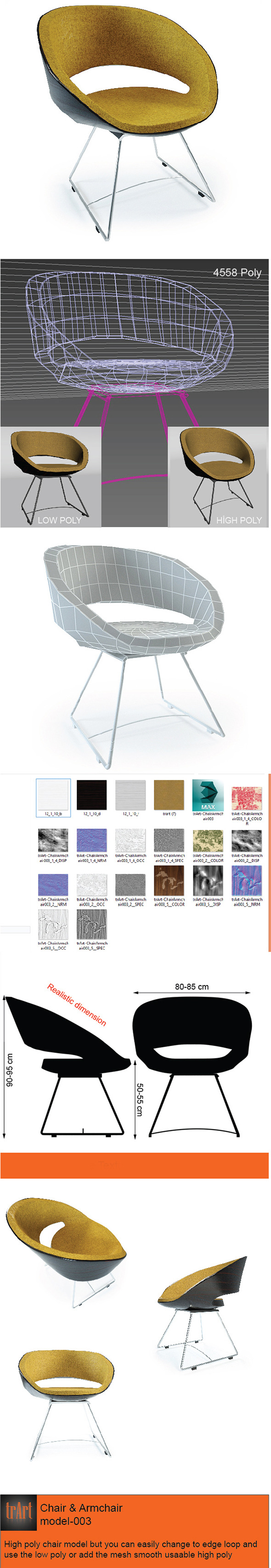 3DOcean Chair Armchair 6124018