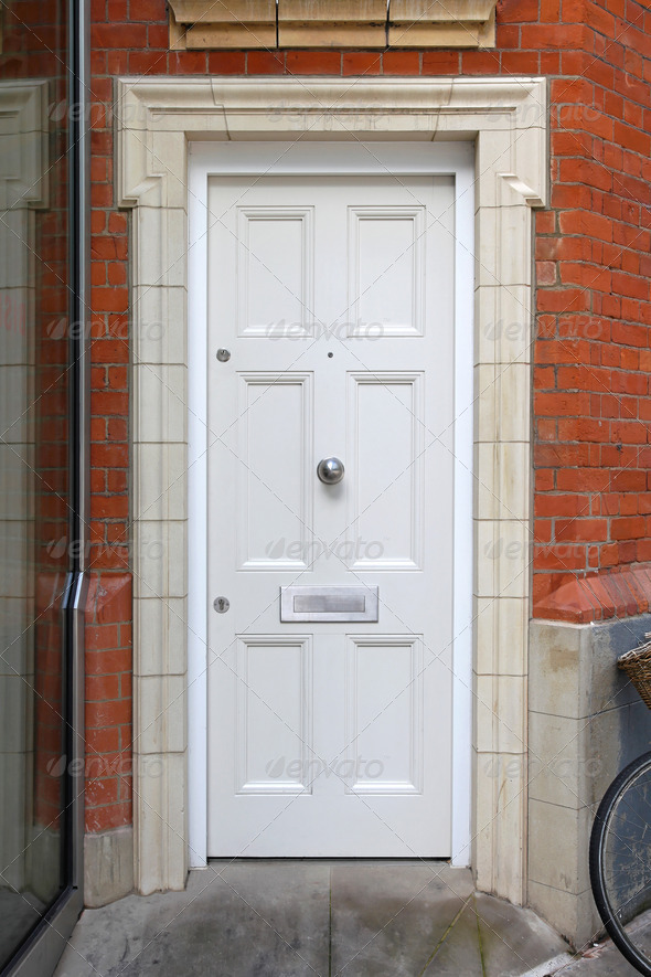 White door - Stock Photo - Images
