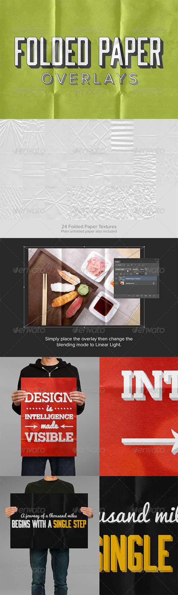 GraphicRiver 24 Folded Paper Overlays 6124279